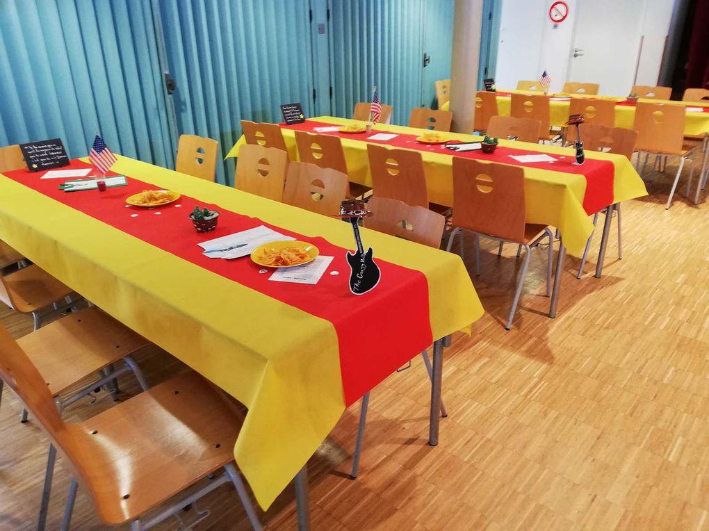 Une très belle journée Catalan à l'Espace Colette 45230, Merci Sylviane pour la déco