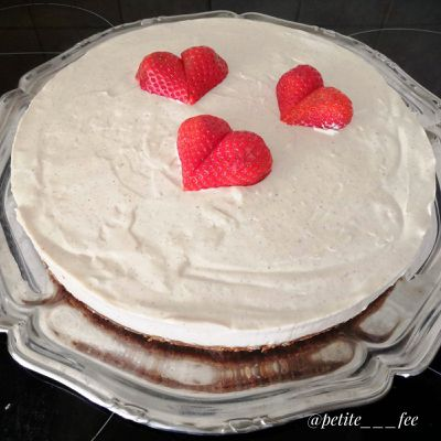 Mon Cheesecake chocolat blanc - spéculos, insert fruits rouges