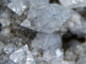 Apophyllite on Calcite Stalactite from Sawda Mine, Jalgaon, India (size: Museum)
