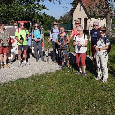Initiation à la marche nordique, à Turckheim, le 14 juin 2021