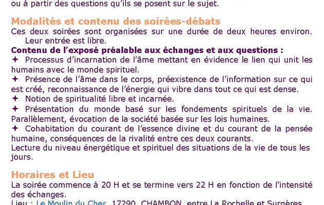Vivre en 2013 une spiritualité libre et incarnée