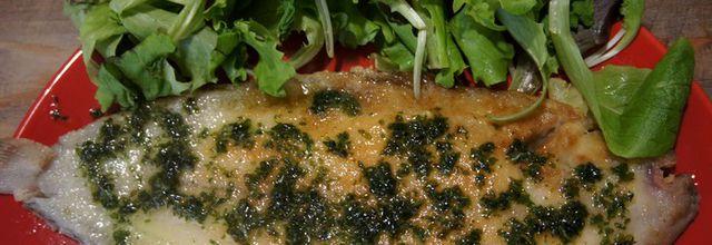 Soles grillées au beurre persillé façon Meunière