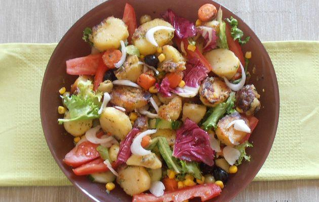 """salade de pomme de terre pour le concours """"tout en couleur"""" chez Mirinda!"""