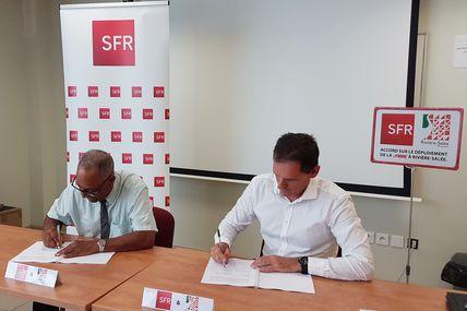 Martinique : SFR Caraïbe et la ville de Rivière-Salée signent une convention à propos du FttH !