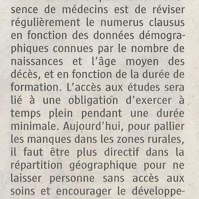 Lutter contre la désertification médicale