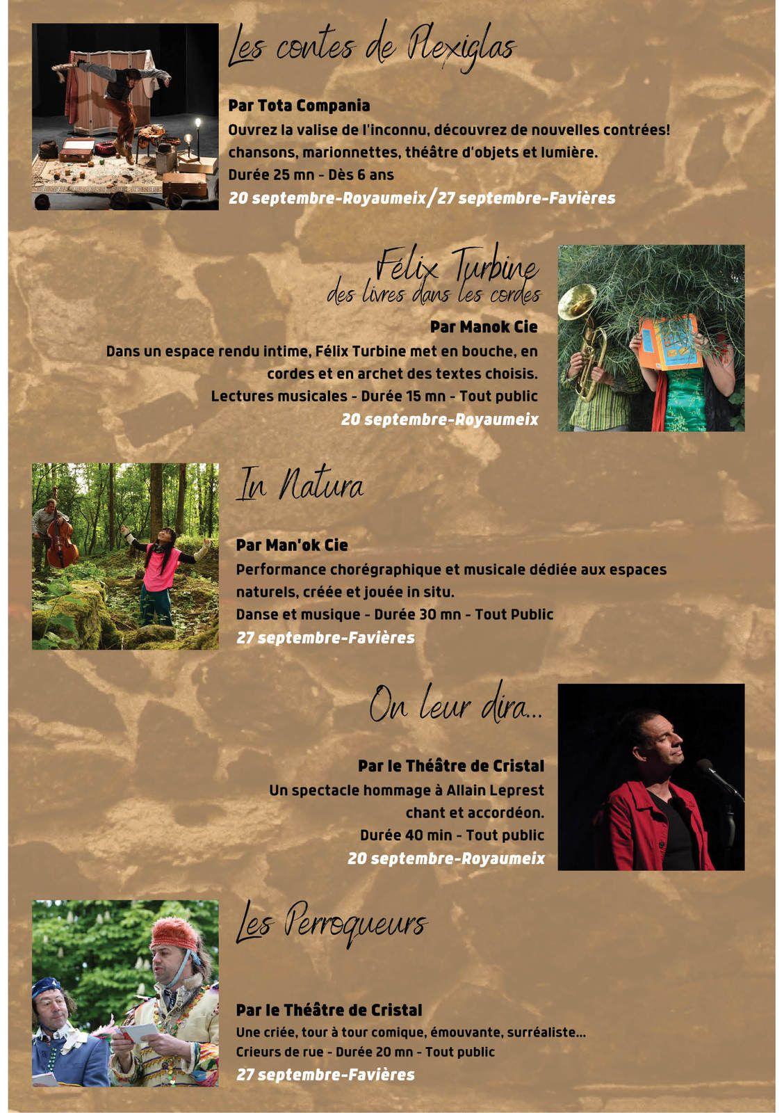 """Festival """"Echappées"""" - Dimanche 20 septembre 2020 à Royaumeix"""