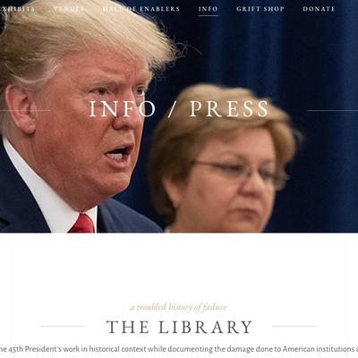 La bibliothèque de Donald J. Trump