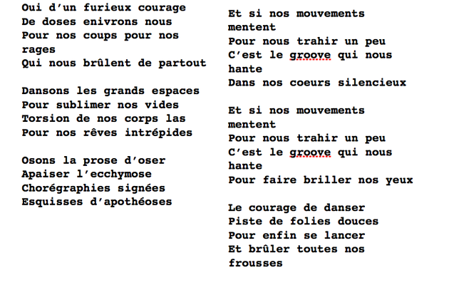 Le courage de danser !