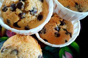 Muffins à la Crème de Coco & Pépites de Chocolat ~sans gluten ni lactose~