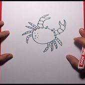 Como dibujar un cangrejo paso a paso 2   How to draw a crab 2