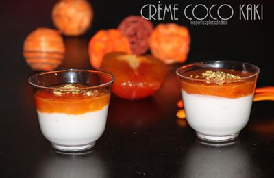 Crème coco kaki