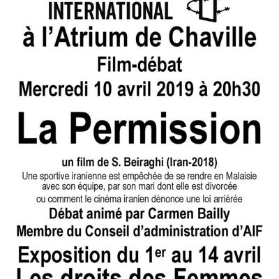 "Chaville, 10 avril, Ciné-débat ""La Permission"""