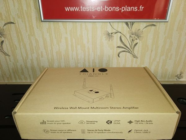 unboxing amplificateur streamer multiroom Triangle AIO Pro A50 @ Tests et BonsPlans