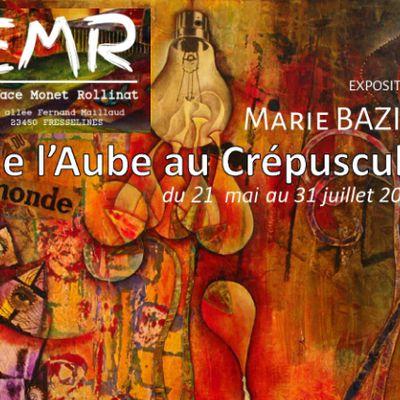 Exposition Marie BAZIN à l'EMR : DE L'AUBE AU CRÉPUSCULE