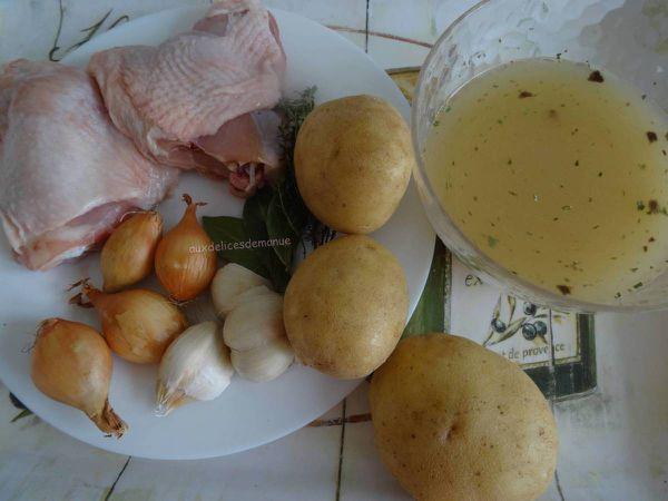 Hauts de cuisse de poulet aux pommes de terre, au Cookéo ou pas