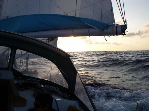 Photos de la traversée transatlantique entre Dakar au Sénégal et Salvador de Bahia au Brésil.