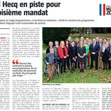 L'article de la Voix du Nord sur l'équipe Anzin-Saint-Aubin, une Volonté Commune