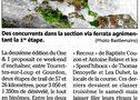 TOURRETTES sur LOUP - Le One & 1 pour le Team biberli : l'article Nice-matin par Stéphane Giordanengo