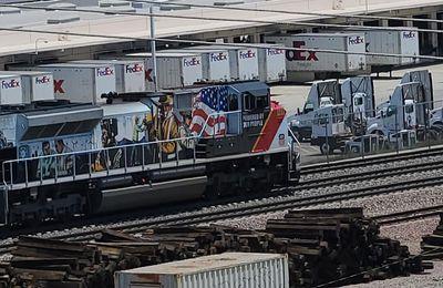 Un train spécial Union Pacific Heritage en vidéo