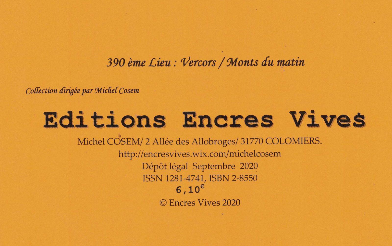 """"""" Ce printemps, les Monts rêvés"""" ( Extraits. Poèmes de Régis Roux, dessin de Yuko Yotsuzuka, éditions Encres vives; septembre 2020.)"""
