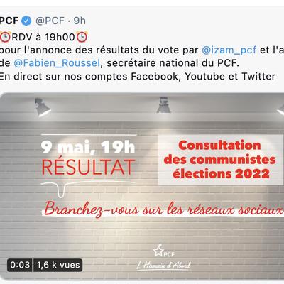 Election présidentielle:  résultat de la Consultation