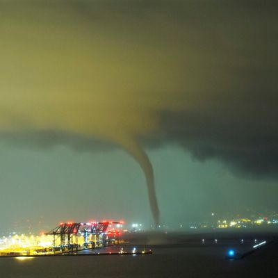 STORM IN LIGURIE ITALY