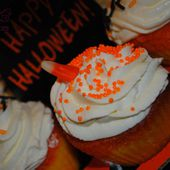Halloween : Cupcakes Candy Corn - Graine d'Epices