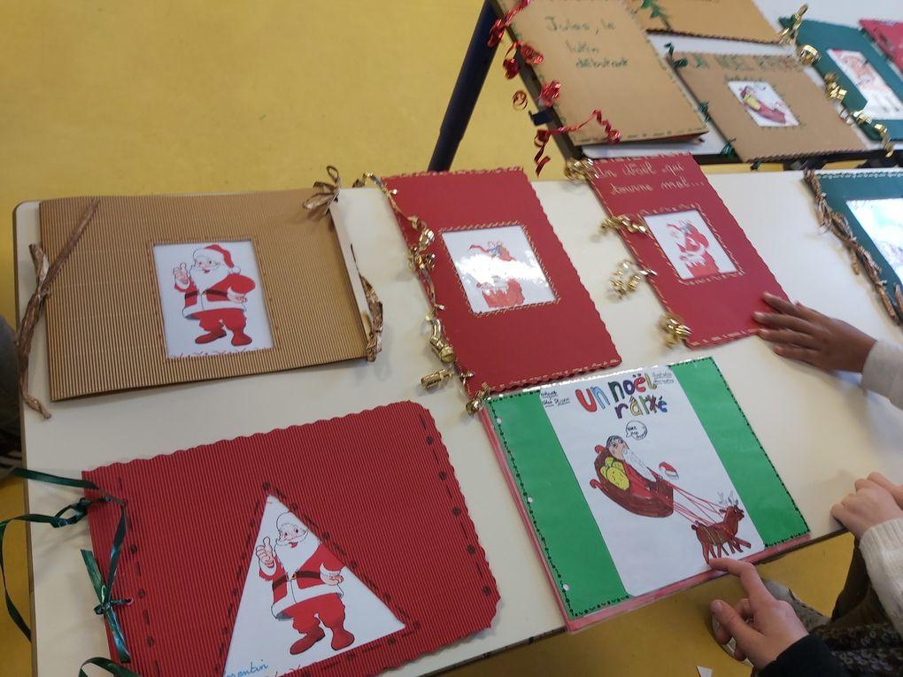 Ecriture d'albums de Noël par la classe de CE2/CM1