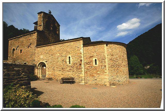 Diaporama église fortifiée de SALAU à Couflens