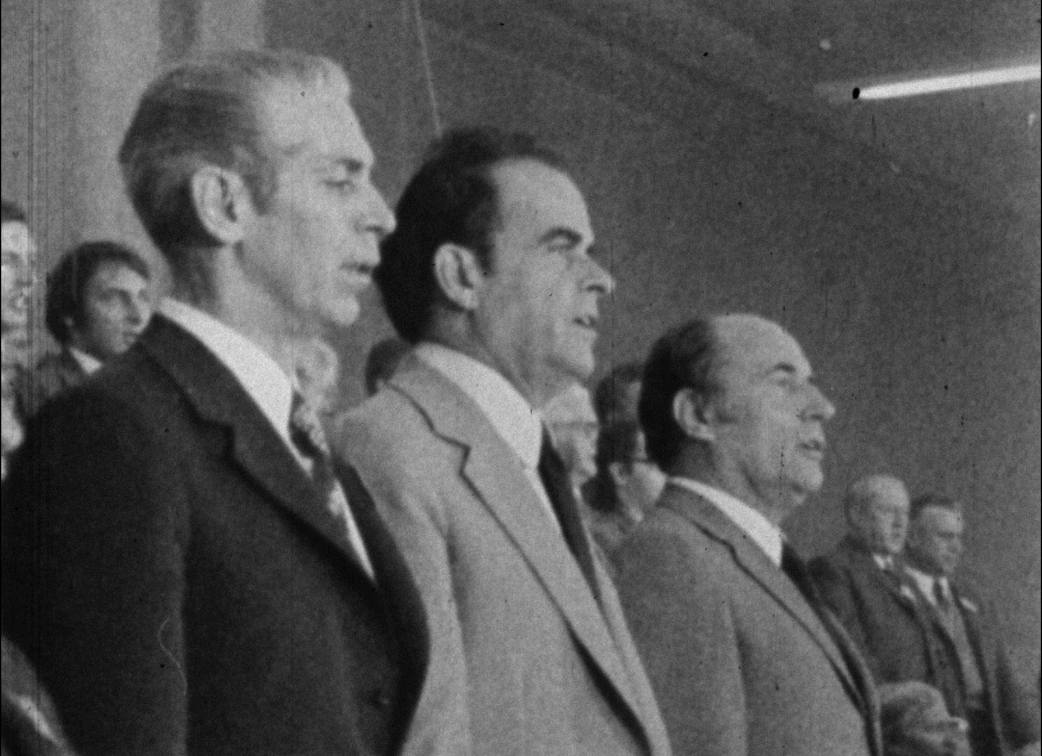 Robert Fabre,  Georges Marchais, François Mitterrand