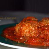 """Boulette de viande à la sauce tomate"""" la meilleure"""" - http://www.petitsplaisirs.org/"""