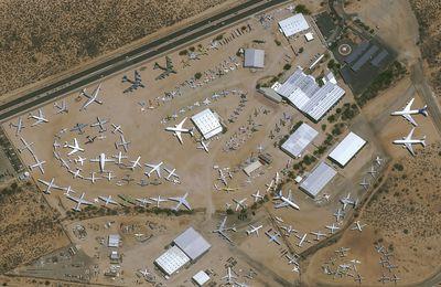 Le cimetière d'avions de Tucson vu par le satellite Pléiades Neo 3