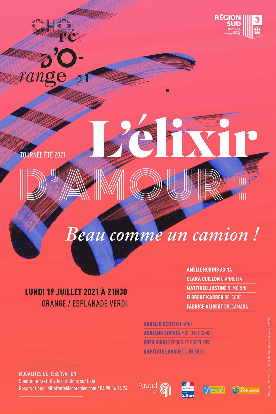 """""""L'élixir d'amour"""" version 2021 aux Chorégies d'Orange"""