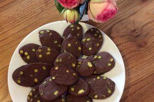 Les sablés chocolat pistache