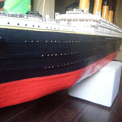 Titanic 1/100  modification sur la coque