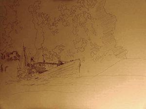""""""" Surtsey, terre vierge, monde interdit """" : L'oeuvre à ses débuts en mai 2015 - un clic pour agrandir -  photos © Jocelyn Lardy"""