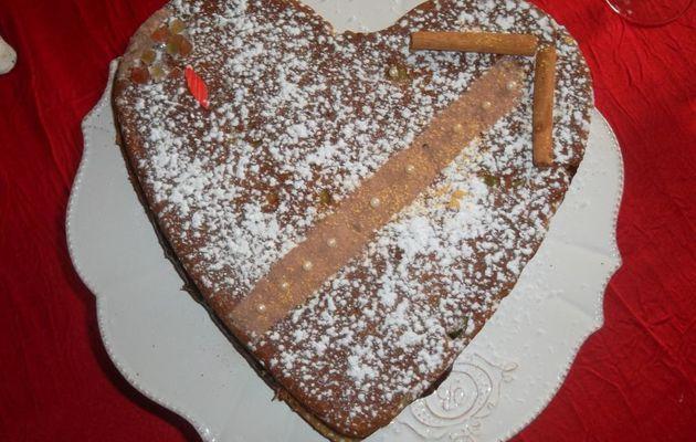 gâteau à l'avocat et au pavot, crème banane-chocolat