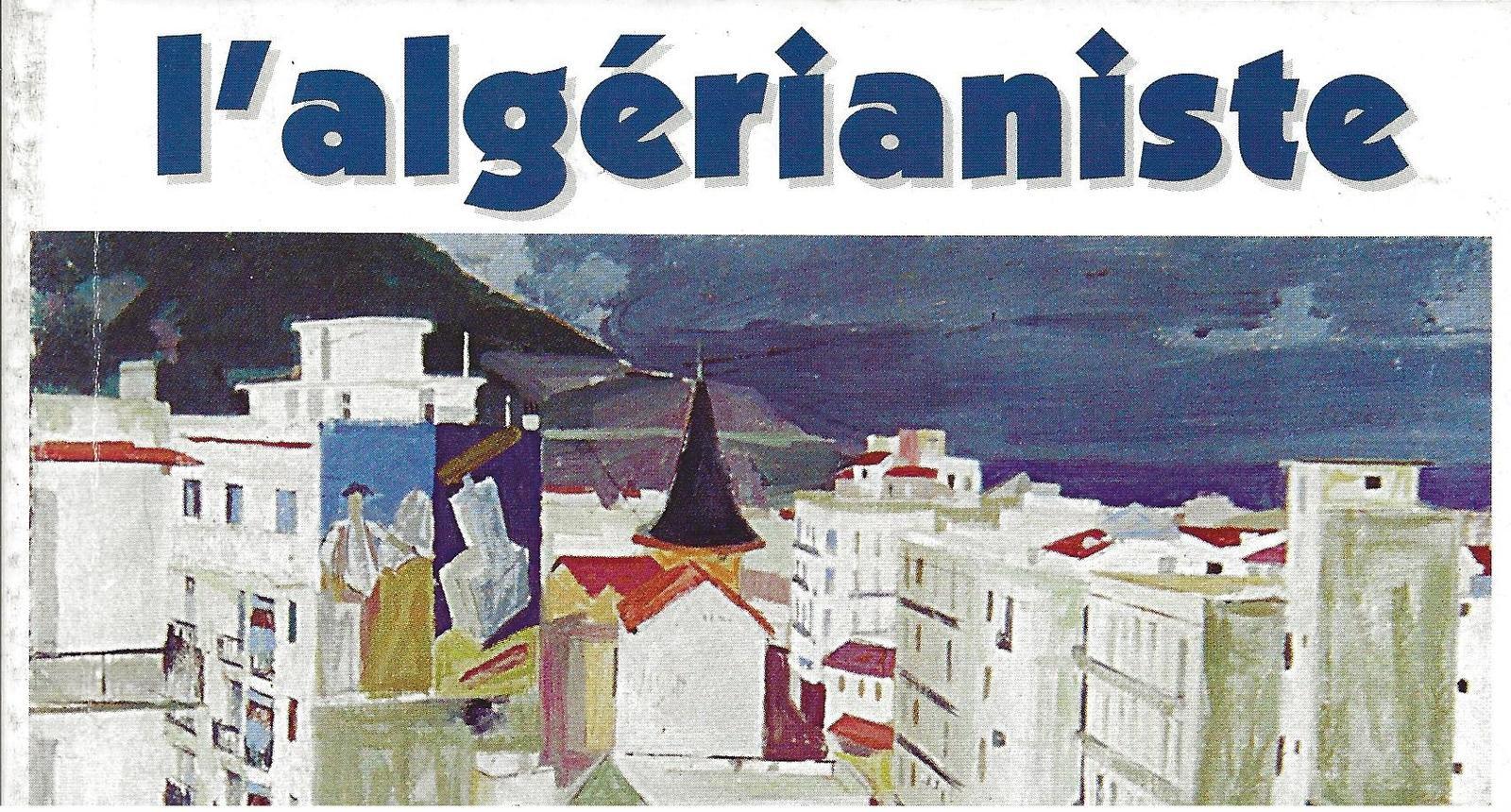 Éditos de notre Présidente, parus dans l'Algérianiste