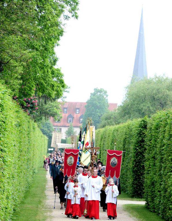 Musikalisch umrahmt wurde das Fronleichnamsfest vom Musikverein Veitshöchheim. Die Fronleichnamsprozession zog nach dem Gottesdienst am Seeufer entlang über den südlichen Ausgang zum Caritas-Seniorenheim St. Hedwig.