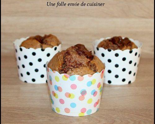 Muffins cœur de pâte à tartiner