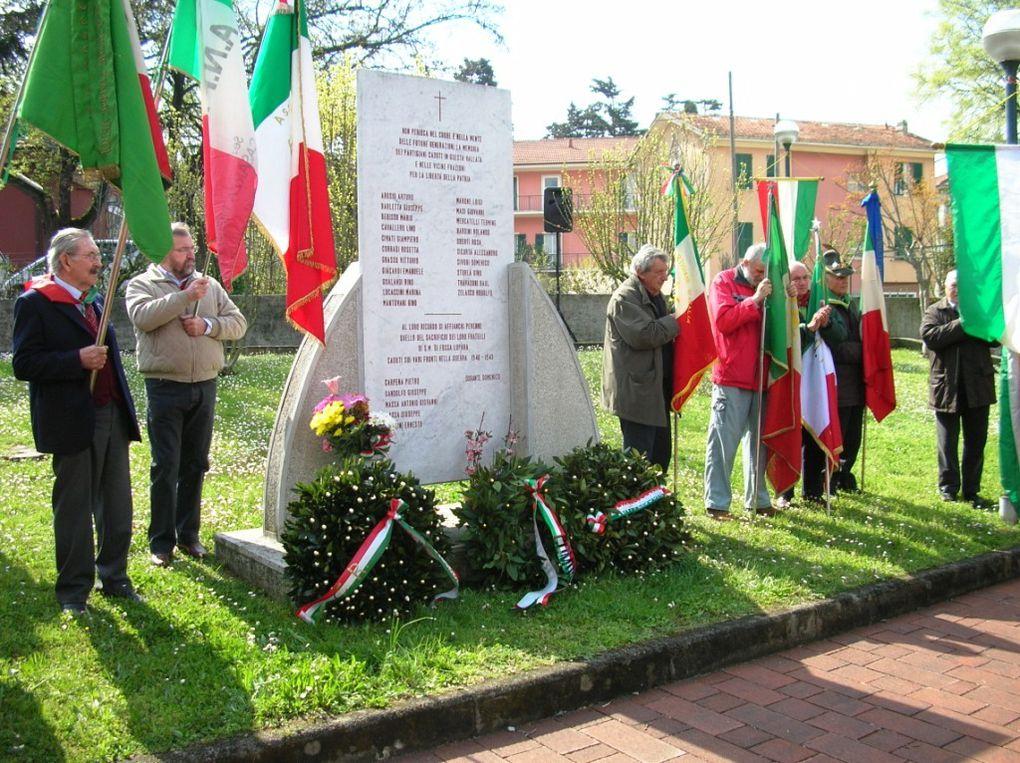 6 aprile 2008: a Sestri Levante per ricordare il partigiano lissonese Arturo Arosio, fucilato dai fascisti