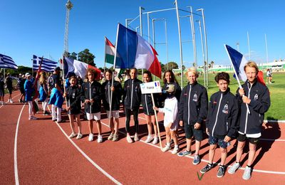 Sarah Jannin, du Loguivy Canot Club, première française au championnat d'Europe d'optimist à Cadix en Espagne.