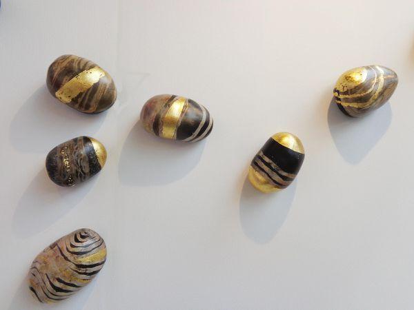 Galets muraux (avec or ou argent)
