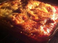 Lasagnes Bolognaises à la vanille .
