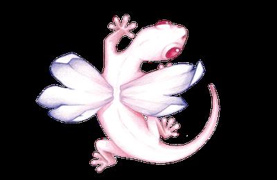logo auteur - salamandre ailée - animal totem