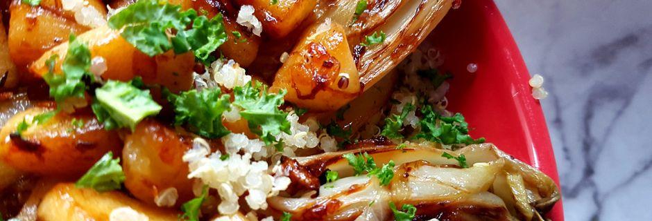 Quinoa aux endives et à la pomme