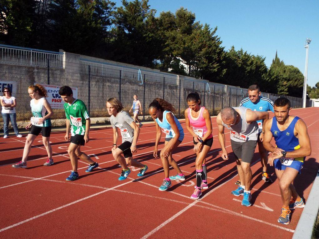 Les inscriptions - Les séries 1 et 2 du 800 m - La série du 5000 m