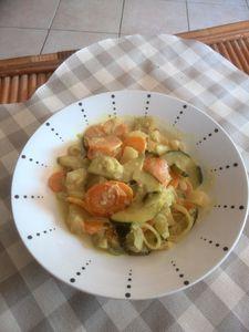 légumes au curry et lait de coco