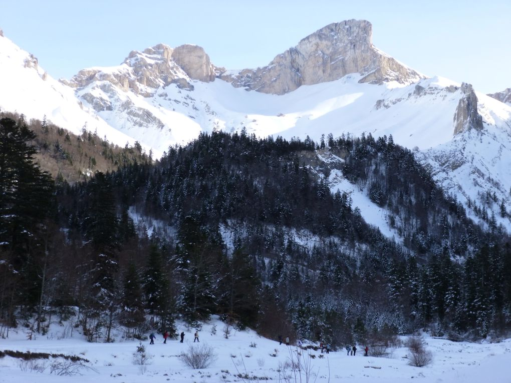 Ski de fond et raquettes  La station de Lus-La Jarjatte offre 18 km de piste de ski de fond en pas alternatif, 5 km de piste de skating et un parcours raquette. Les itinéraires tracés et balisés mènent au fond du vallon de La Jarjatte dans une am