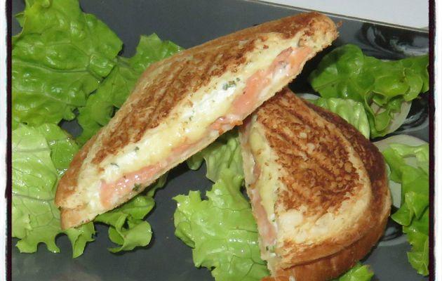 Croque saumon boursin